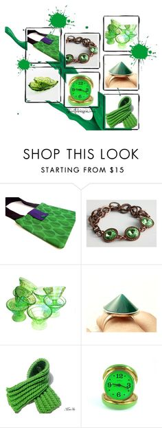 """Giddy Green"" by fivefoot1designs ❤ liked on Polyvore featuring Anello"