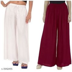 Checkout this latest Palazzos Product Name: *New Fabulous Rayon Women's Palazzos Combo * Fabric: Rayon Waist Size: Up To 28 in To 42 in (Free Size ) Length: Up To 39 in Type: Stitched Description: It Has 2 Pieces Of Women's Palazzos  Pattern: Solid Country of Origin: India Easy Returns Available In Case Of Any Issue   Catalog Rating: ★4 (755)  Catalog Name: Lasafiya Fabulous Rayon Women's Palazzos Combo CatalogID_558946 C79-SC1039 Code: 363-3962465-498