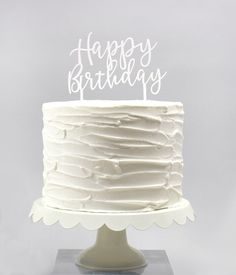 """Make your celebration extra special with this stylish cake topper! - Measures 5.25"""" x 6"""" (including stakes) - Made from white acrylic - Reusable when washed with warm water"""