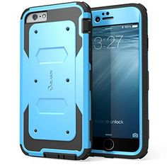 cool iPhone 6 Plus Case , i-Blason® [Armorbox] built-in Screen Protector **Full body** [Heavy Duty] Protection Shock Absorb Bumper Corner for Apple iPhone 6 Plus 5.5 inch (Blue)