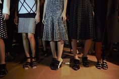 Fringed shoes backstage at Proenza Schouler SS15 NYFW. More images here: http://www.dazeddigital.com/fashion/article/21486/1/proenza-schouler-ss15-live-stream
