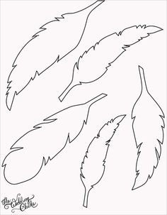 DIY Feather Bunting that is so easy to make, and includes a free printable feather template. Silhouette Cameo, Silhouette Portrait, Feather Template, Feather Stencil, Bird Template, Watercolor Feather, Feather Pattern, Feather Cut, Feather Drawing