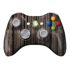 XBOX 360 controller Wireless Glossy WTP-285-Charcoal-Gray-Straight-Grain Custom Painted- Without Mods