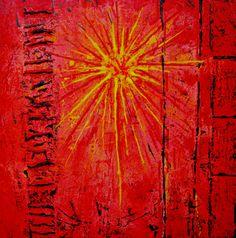 "Celestte ""Sonora"" Original Mixed Media on Canvas 24 x 24"
