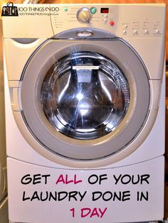 Knock all of your #laundry out in one day with this useful tip