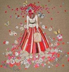 Louise Gardiner's hand embroidery