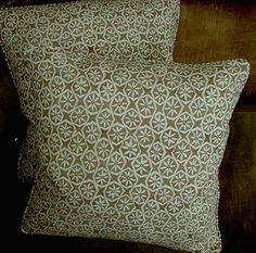 Carolina Irving Fabric Custom Designer Throw Pillows by fortuny1