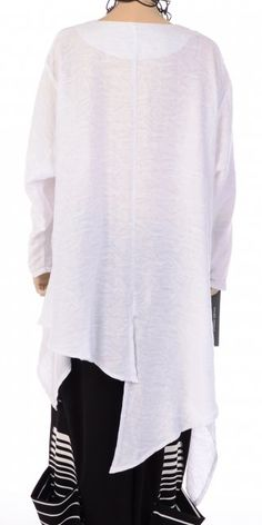 Champagne Pearl White Pattern Asymmetric Tunic - Champagne from idaretobe.com UK
