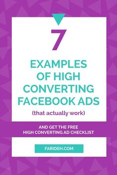 7 Examples of High Converting Facebook Ads (That Actually Work). You want to know how much it will cost you every time someone not only clicks, but actually takes action and purchases or signs up for your email newsletter. You want to know how much your Facebook ads cost per conversion.
