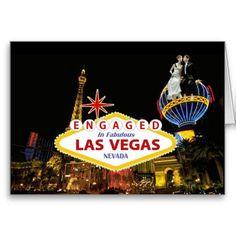 ENGAGED In Fabulous Las Vegas B G Card