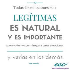 """""""Todas las emociones son legítimas, es natural y es importante que nos demos permiso para tener emociones y verlas en los demás"""" #emociones #coaching #generosidad"""