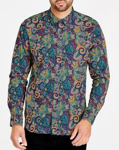 992d39e3e4f04 1970s Men's Vintage Style Shirts Joe Browns Pop Of Paisley Shirt Mens Retro  Shirts, Vintage