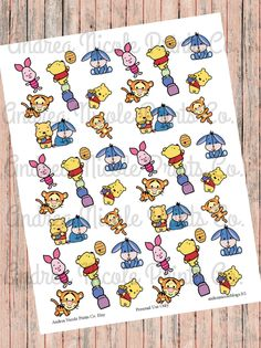 DIY Print & Cut Storybook Cuties Planner Stickers by AndreaNicolePrintsCo on Etsy