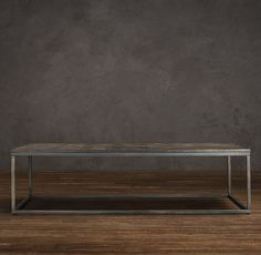 Table basse structure m tal plateau en pierre noire - Table basse pomax ...