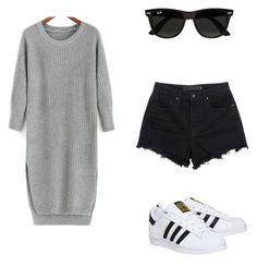Designer Clothes, Shoes & Bags for Women Nadine Lustre Outfits, Polyvore Outfits, Polyvore Fashion, Alexander Wang, Chill, Ray Bans, Women's Fashion, Adidas, Shorts