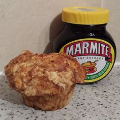 Marmite and cheese muffin recipe Muffin Recipes, Brunch Recipes, Breakfast Recipes, Snack Recipes, Snacks, Marmite Recipes, English Food, English Recipes, Savoury Biscuits