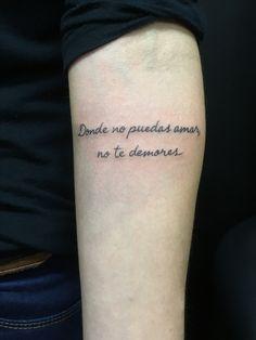 Texto tattoo
