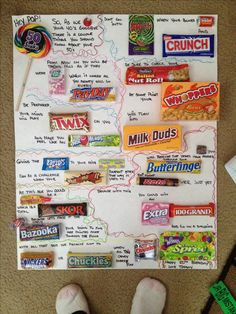 Candy Bar Birthday Poster Card Diy Amp Crafts That I Love