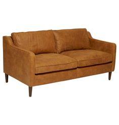 Norse Leather 2.5 Seater Sofa   Matt Blatt