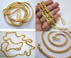 Gold Chains Jewelry Designs For Men's Wear