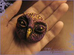 OWL natural solid perfume in handsculpted case - Handmade by Vocisconnesse