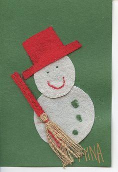 https://flic.kr/p/5JPLBp | joulukortti  86 - Snowman Christmas Card | my collection