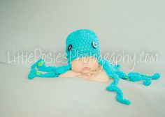 Crochet Octopus Baby Hat Beanie Photo Prop Boy Girl Made to Order. $20.00, via Etsy.