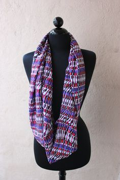 Circle scarf. Like this, wish it was in a different  pattern though.
