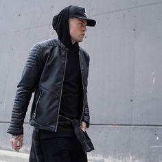 "Judas Sinned on Instagram: ""The Must Have: Our Classic Biker Jacket 💀 Shop now via judassinnedclothing.com"" Sik Silk, Stephen James, Must Haves, Nike Jacket, Biker, Shop Now, Leather Jacket, Dreams, Classic"