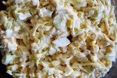 Gospodyni Miejska: Sałatka z porem, serem, kukurydzą i jajkami