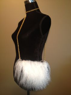 Modified store made purse with tibetan lamb, available in black or pink satin fabric with gold or silver shoulder chain and wristlet strap Pink Satin, Satin Fabric, Furs, Lamb, Women Accessories, Pearl Necklace, Chain, Store, Shoulder Strap