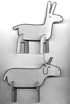 "Scan of paper models for "" la creche en carton"" www.lacrecheencarton ..."