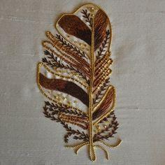 Metalwork Tawny Owl Feather