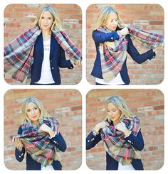 On SALE READY to SHIP Plaid Blanket Scarf by LePetitMonkey