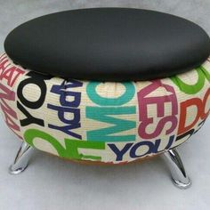Recycled Furniture: Ideas Chairs, Ottoman And Tables Made From Tires - Home & Decor