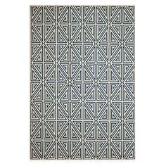 baza navy geometric rug