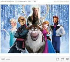 ......there are no words for this<--Legolas is Elsa! I'm dying because I'm now imagining Legolas running through Mirkwood shooting arrows while singing Let it Go while Tauriel and Thranduil just stare... <--- I ALMOST DIED LAUGHING!!! Lolol