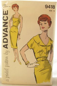 1960s Wiggle Dress Advance 9418 Bombshell Dress by EmSewCrazy,