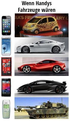 Wenn Handys Fahrzeuge wären - Fun Bild | Webfail - Fail Bilder und Fail Videos