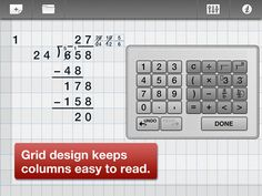 ModMath - The first iPad app made specifically for people with dysgraphia and dyslexia. It's a great resource for students who may need extra help lining up and organizing information.