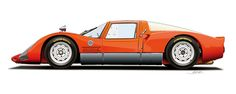 Porsche 906 illustration by Alain Jamar