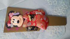 Collectible Hagoita Tokyo Disney Resort Geisha in Kimono Minnie Mouse  #Hagoita