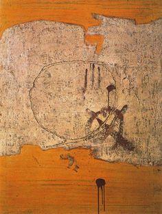 Blanco con manchas rojas. Antonio Tapies. 1954 : Observatorio - Obra de arte del día