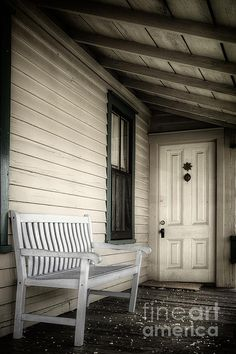 Sit Awhile by Joan Carroll on Crated Fine Art Prints, Framed Prints, Porch Swing, Outdoor Furniture, Outdoor Decor, Black And White Photography, Fine Art Photography, Crates, Fine Art America