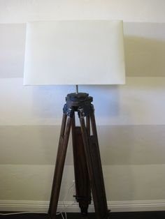 How To Make A DIY Tripod Lamp - Dream Book Design