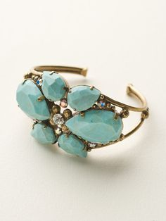 Secret Garden Cuff Bracelet in Azure Allure by Sorrelli - $170.00 Now at Headliners