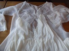 Vintage White Night Gown and Cover Lace