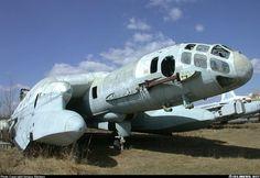 Abandoned Beriev VVA-14M1P ekranoplan, a 1960's soviet ground effect vehicle