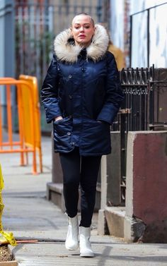 Rose McGowan takes a stroll in NYC.