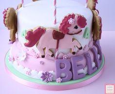 Merry-go-round birthday cake